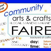 Arts & Crafts Faire at Caffrodite