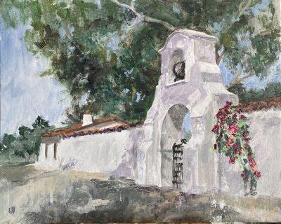 Plein air painting at the Olivas Adobe