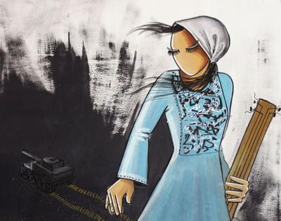 Shamsia Hassani, ArtWalk Ventura Global Artist of Distinction 2017