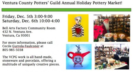 Ventura County Potters' Guild Annual Holiday Pottery Market