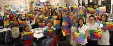 Paint and Sip at The Wine Rack