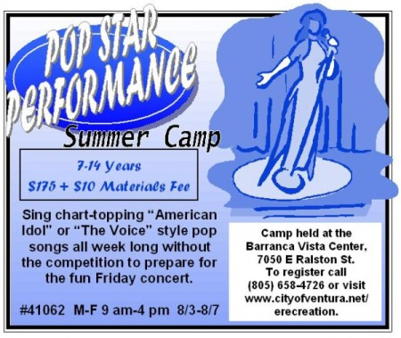Pop Star Performance Camp