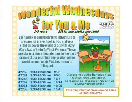 Wonderful Wednesdays for You & Me