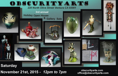 Obscurity Arts 3rd Annual Holiday Open House and Gallery Sale
