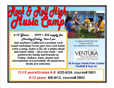 Rock and Roll High Music Camp presented by City of Ventura