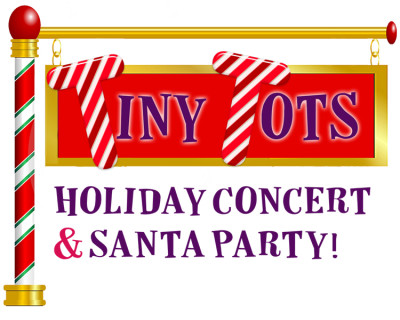 Tiny Tots Holiday Concert, Party & Santa Photos